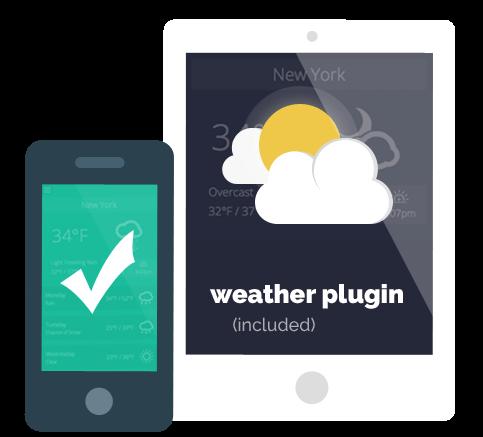 Weather Plugin Included